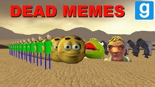 INSANE NEXTBOT ARMY WITH DEAD MEMES IN AREA 51! - Garry's mod Sandbox