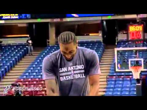 Kawhi Leonard rare footage of  laughing at the practice training camp