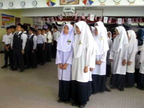 lagu bahasa jiwa bangsa oleh tahun 6 sk Bukit Jana