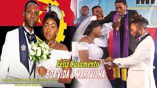 MARIAGE RELIGIEUX YA BOSS BOA VIDA ET MARAVILHA AKANGI DOUBLE SALLE DE FETES LUANDA ANDIMI