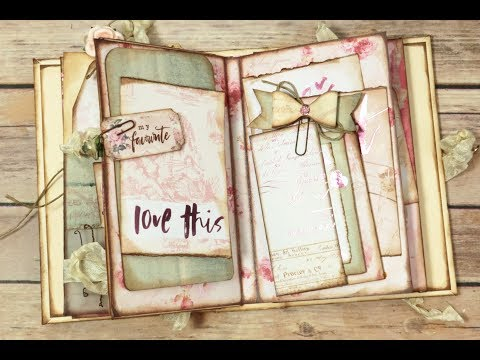 Remnants~Lovely Layers~Mini Fold Out Pocket Page~Bow Clip~ #8