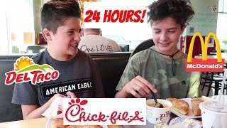 SWAPPING DIETS WITH MY TWIN! FAST FOOD ONLY! | Brock and Boston