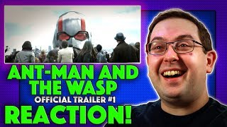 REACTION! Ant-Man and The Wasp Trailer #1 - Marvel Evangeline Lilly Movie 2018