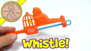 Vintage Toy Bird Warble Slide Whistle, Ja-Ru Toys