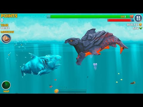 Hungry Shark Evolution Pyro Shark Android Gameplay #32