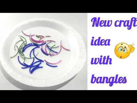 Old bangles craft idea | Best out of waste idea |kb crafter