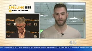 SPELLING BEE CHALLENGE: San Jose Sharks rightwinger Barclay Goodrow takes the spelling bee challenge