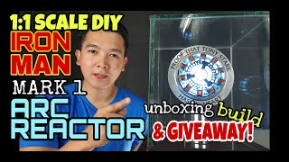 DIY ARC REACTOR | 1:1 SCALE, MARK 1 - unboxing, build and GIVEAWAY!