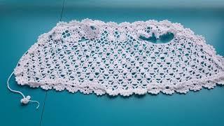 AS-068. 백일 아기를 위한 옷. 코바늘 뜨개. 면…