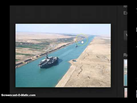 SUEZ CANAL  does it curve or is it flat