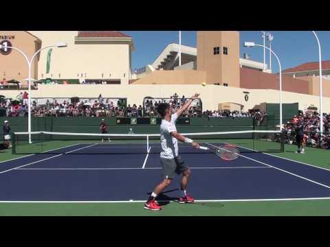 Kei Nishikori and Sam Querrey: 2017 BNP Paribas Open (Practice)