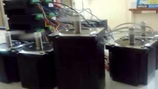 45 nm 8 5nm 4 2 a step motor src ve 5 eksen cnc kontrol kart testi 1
