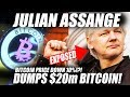 BREAKING: BITCOIN DIP CAUSED BY WIKILEAKS DUMPING BITCOIN! EXPOSING JULIAN ASSANGE BITCOIN WALLETS!