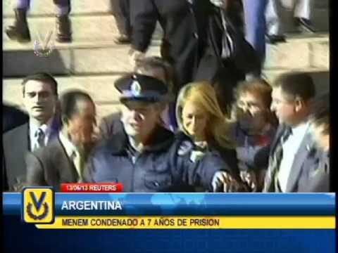 Condenan a expresidente argentino Carlos Menem a 7 años de prisión por contrabando de armas