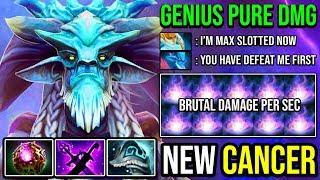 PURE GENIUS!!! 25% Spell Lifesteal + Ultra Pushing Leshrac Nightmare Meta Vs 6 Slotted Naga DotA 2