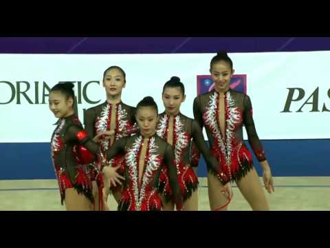 China Rhythmic gymnasts  World Cup Pesaro (Italy)