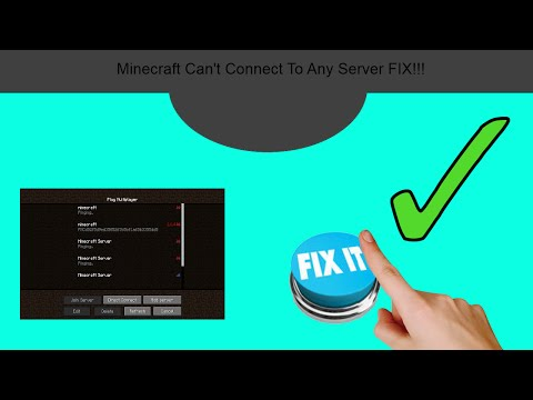 Minecraft Can't Connect To All Servers  !FIX! No FIREWALL No Internet Mess!