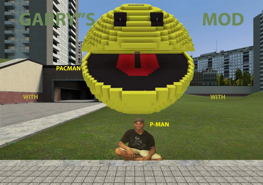 gmod with p-man  its pac man