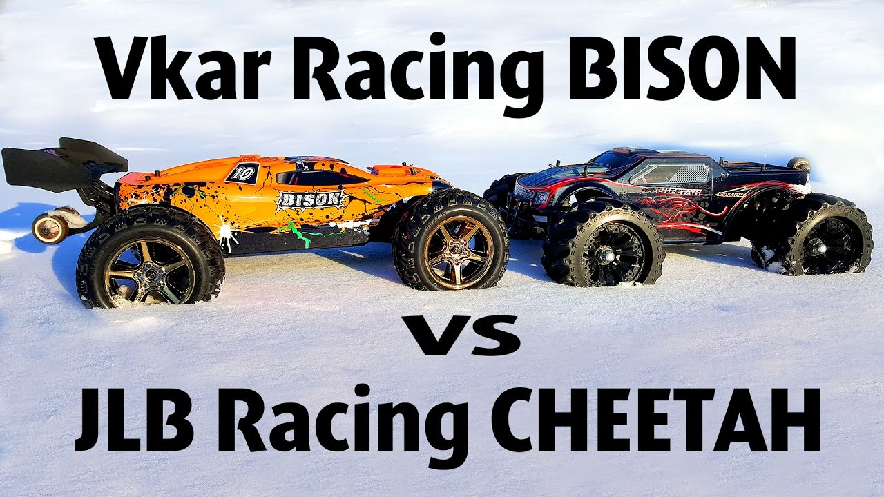 RC Car OFF Road 4x4 —Vkar Racing BISON VS JLB Racing CHEETAH — RC