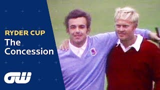 The Concession: Jack Nickalus vs Tony Jacklin | Ryder Cup 1969 | Golfing World