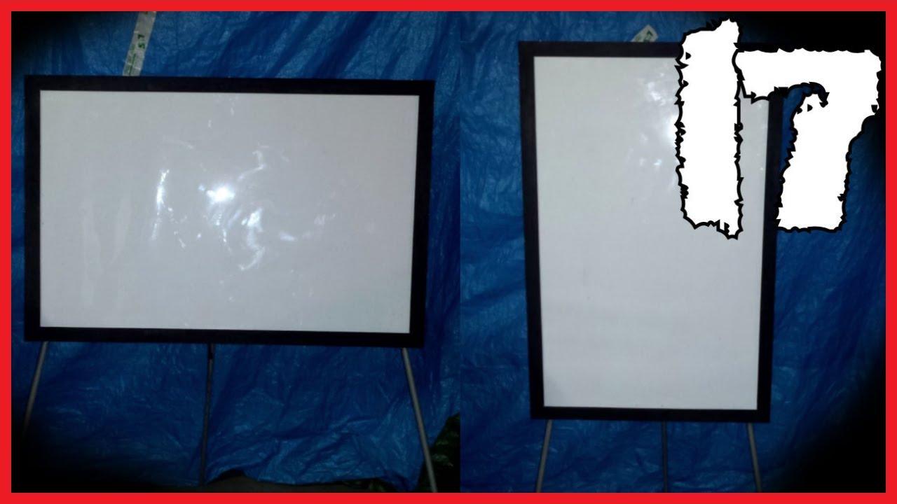 Come Pulire Parete Lavagna 17 - aggiustare una vecchia lavagna / whiteboard restoration