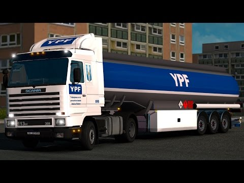De regreso en Argentina! Hacia La Rioja - Cisterna YPF! Camión Scania 113M