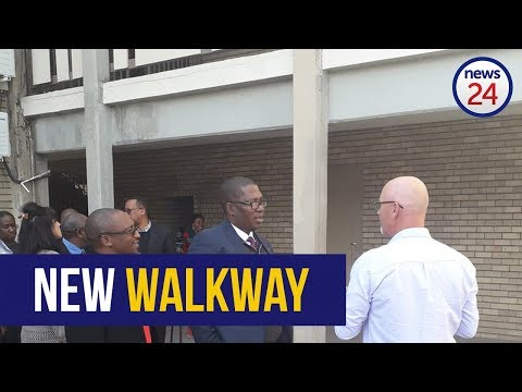 WATCH: Panyaza Lesufi unveils new walkway at Hoërskool Driehoek
