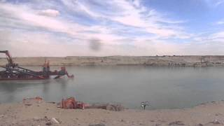 See drilling and dredging in the new Suez Canal entire southern sector