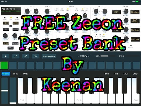100% FREE Preset Bank For ZEEON Synthesizer Demo for the iPad