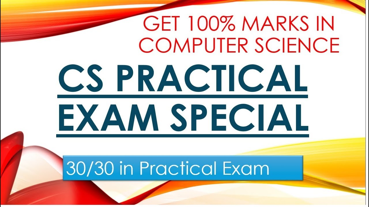 PRACTICAL EXAM OF COMPUTER SCIENCE - GET 100% MARKS IN COMPUTER SCIENCE  12th CBSE - VIDEO5