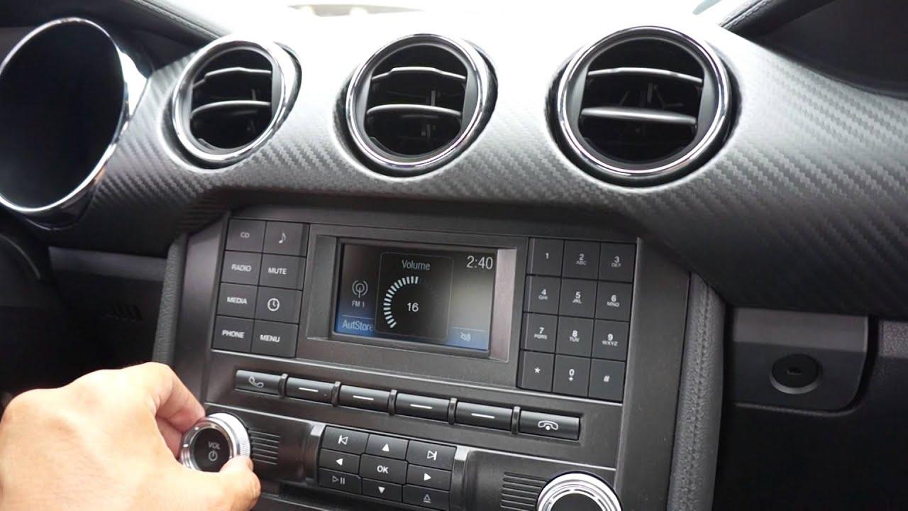 Camaro Vs Mustang >> 2015 Ford Mustang V6 Stereo - YouTube