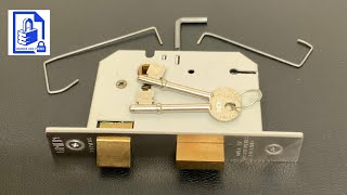 (233) Union Mortice Leטer Lock picked open the easy way using 2 pick wires and a keyway support bar