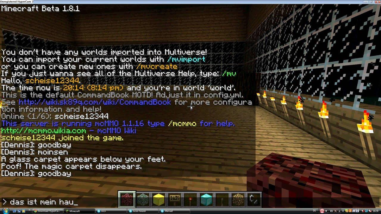 Minecraft Nitrado Server Balt YouTube - Minecraft hauser video