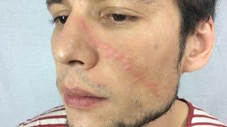 как просто сделать шрам  и рану с помощью Pros Aide  для Хэллоуин/How to make a fake scar and wound