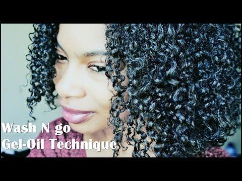 Wash N Go for Less Shrinkage| Gel/Oil Technique (4a/3c)