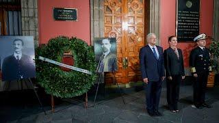 Ceremonia por el CVI aniversario luctuoso de Francisco I. Madero