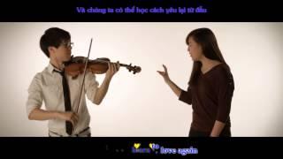 Just Give Me A Reason - Jun Sung Ahn Violin ft Sarah Park Cover || (Lyrics + Vietsub)