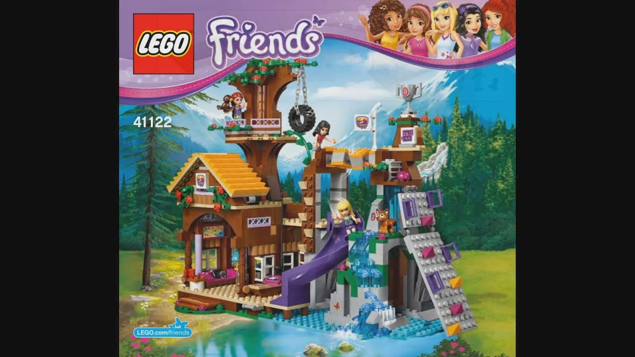 lego friends 41122 adventure camp tree house instruction timelapse rh youtube com LEGO Friends Beach House LEGO Friends Olivia's House