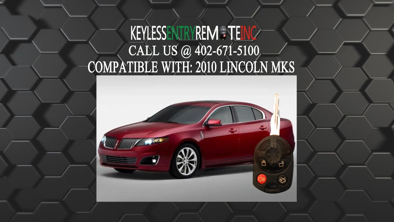 How To Replace Lincoln Mks Key Fob Battery 2010 Youtube