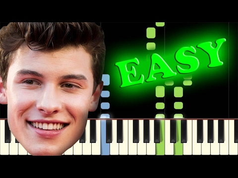SHAWN MENDES - STITCHES - Easy Piano Tutorial