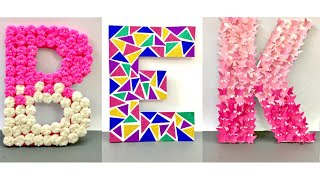 Diy 3d Letters | How To Make 3d Letters For Room Decor