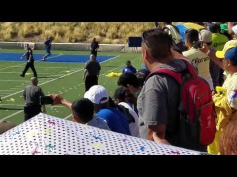 Pelea entre porras de America y pumas,juego de leyendas Santa Ana Ca.