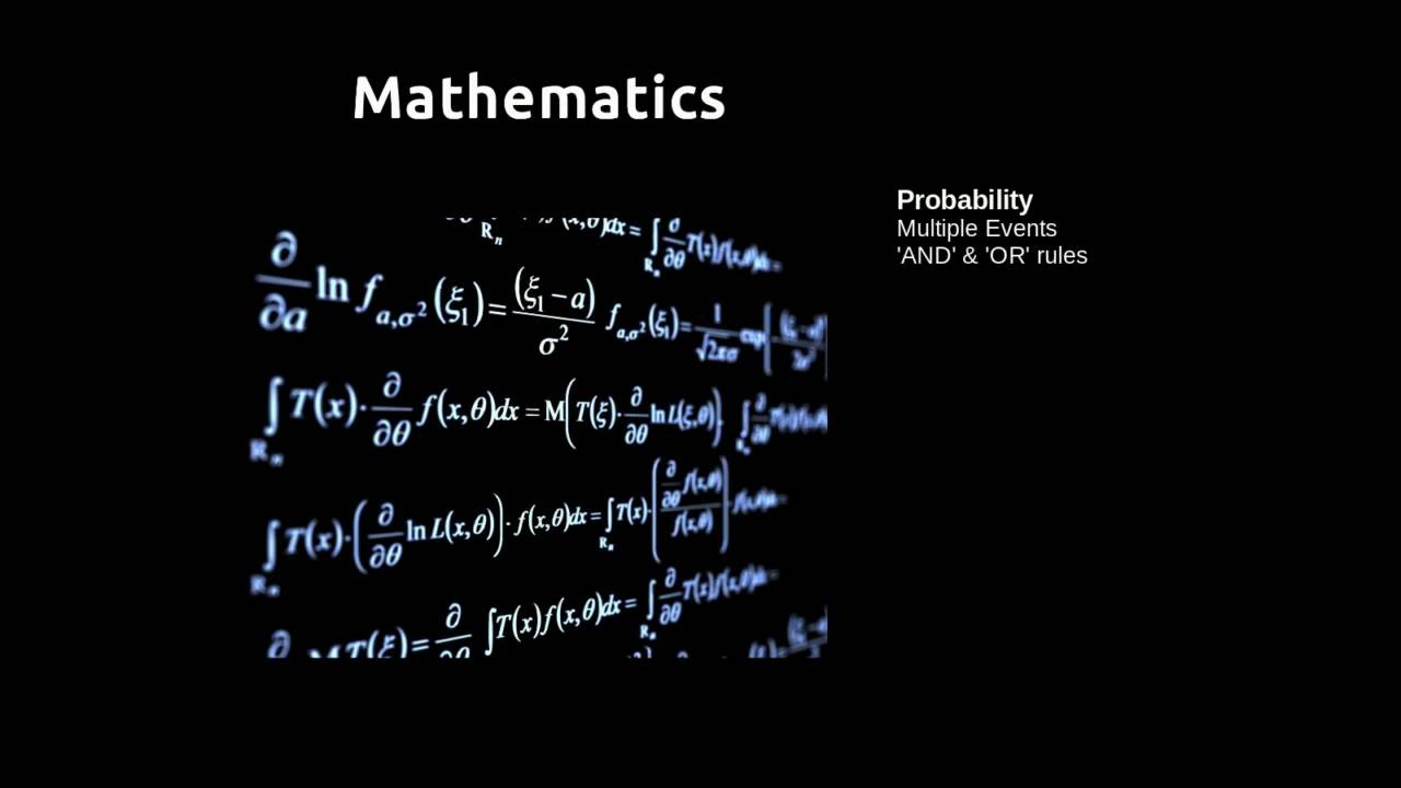 Probability Multiple Events - YouTube