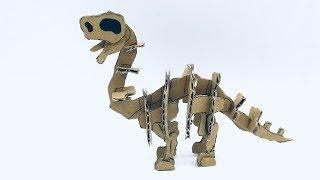 [DINOSAUR] Brachiosaurus Skeleton Cardboard Tutorial - DIY