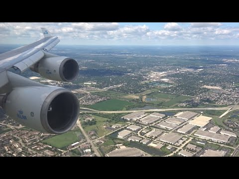 KLM 747-400 - Beautiful Afternoon landing at Chicago O'hare