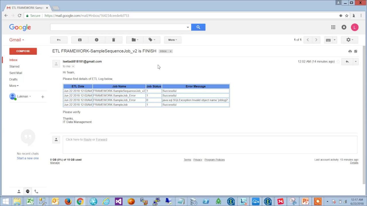 Talend Resume Last Error Job Framework 3 Demo Email Alert Youtube