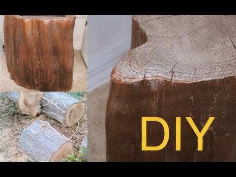 Diy How To Make A Tree Wood Table For Free Tutorial Youtube