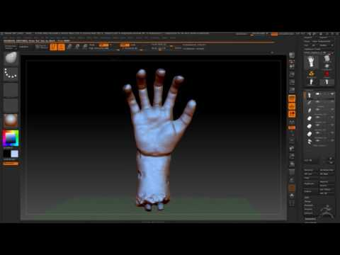 Zombie Hand Zbrush Progress