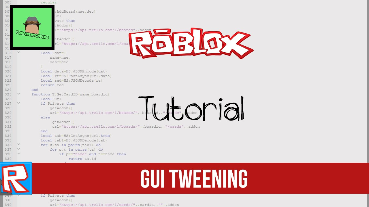 Roblox Tutorial Gui Tweening Youtube