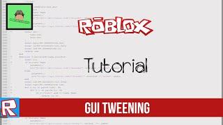 Roblox Tutorial: GUI Tweening